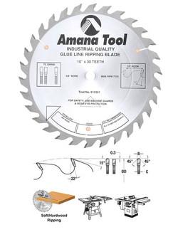 Amana Glue Line Ripping Blades