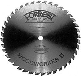 "10""x40T Woodworker II  1/8"" THICK Kerf  - $15.00 OFF Sharpening Offer Included"