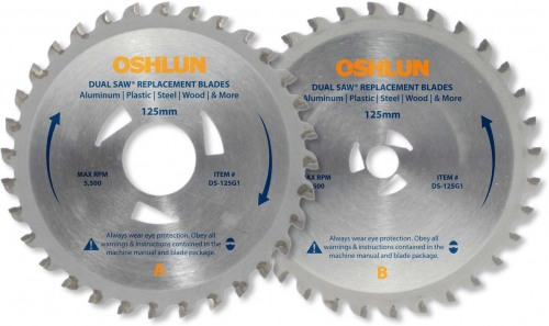 Oshlun 2 Blade Replacement Set for the Original Omni® Dual Saw® & Star Twin®