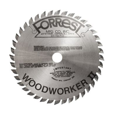 "6""x40T Woodworker II Saw Blade - 5/8"" Hole - $15.00 OFF Sharpening Offer Included"