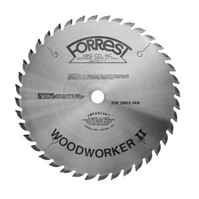 "8""x40T Woodworker II Saw Blade - 5/8"" HOLE - $15.00 OFF Sharpening Offer Included"