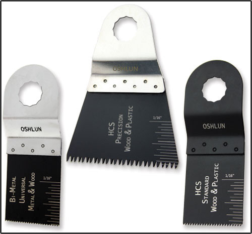 Oshlun MMR-9903 Oscillating Tool Blade Combo for Rockwell SoniCrafter, 3-Pack - Designed for Metal, Wood & Plastic