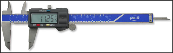 Oshlun 6-Inch Stainless Steel Digital Caliper with Super Large Display