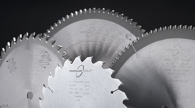 "Popular Tools 8"" x 40T General Purpose Blade 5/8"" Hole"
