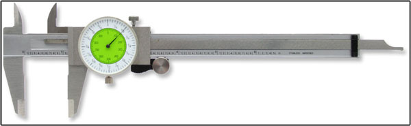 Oshlun 6-Inch Stainless Steel Fractional Dial Caliper