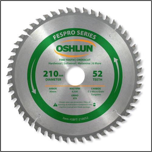 Oshlun 210mmx52T FesPro Crosscut ATB Saw Blade with 30mm Hole for Festool TS 75 EQ