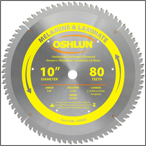 Sbl 100080 Oshlun 10 Quot X80 Tooth Hi Atb Saw Blade With 5