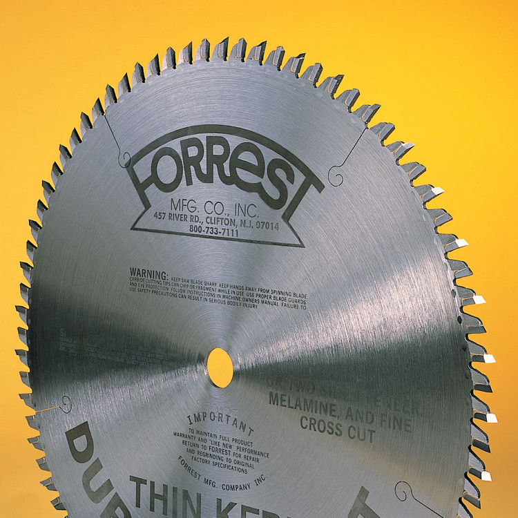 Forrest 18x100T DURALINE Saw Blade ATB for Whirlwind Up-Cut Saws - SPECIAL LEAD TIME 8-10 WEEKS