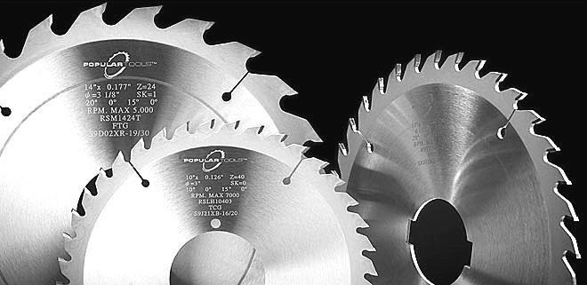"Popular Tools 14"" x 36T ATB Glue Joint Rip Saw Blade, 2"" Hole, 2 Pinholes for Diehl saws"