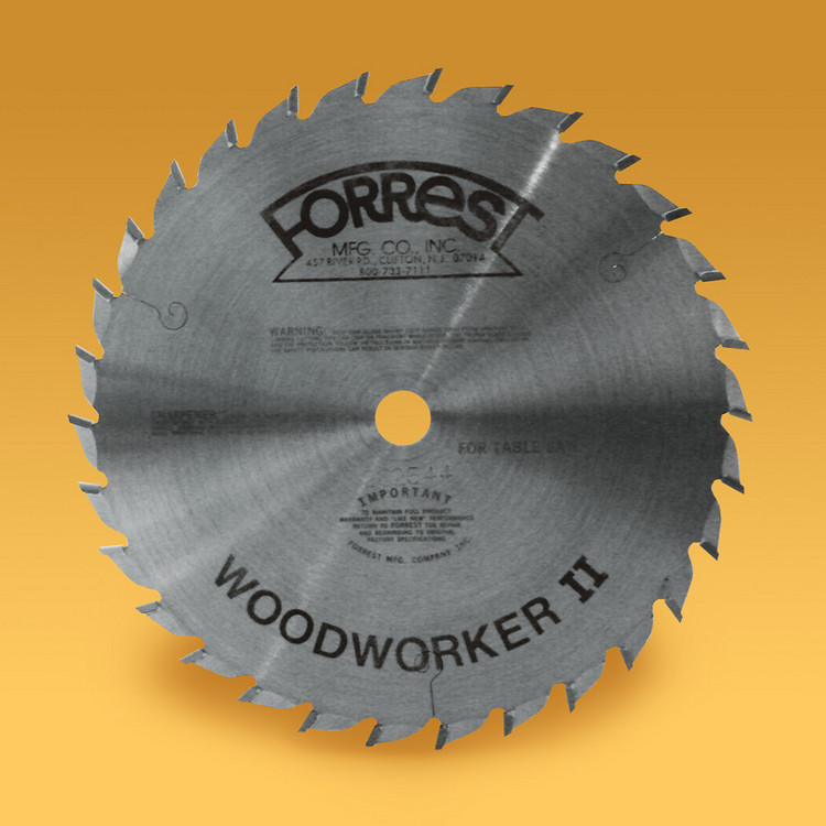 "10""x30T Woodworker II Saw Blade 1/8"" THICK KERF - $15.00 OFF Sharpening Offer Included"