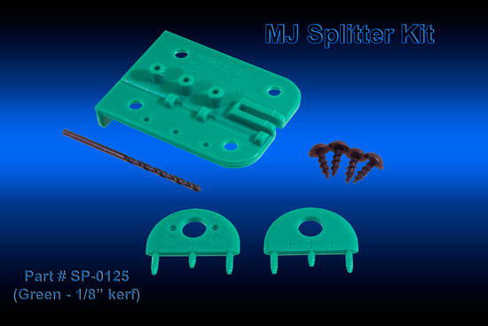 Micro Jig MJ SPLITTER 1/8-Inch Kit (Green)
