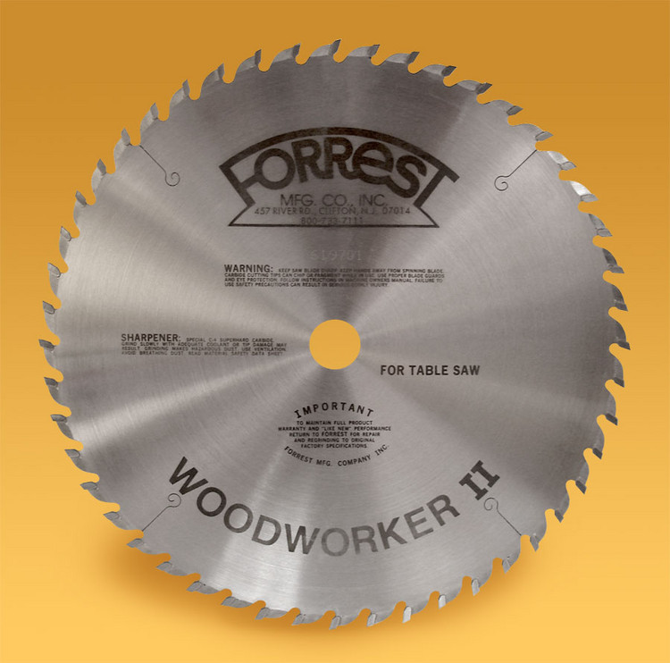 "10""x48TWoodworker II For Even Cleaner Cross Cuts - THIN Kerf - Dampener/Stiffener HIGHLY RECOMMENDED - Sharpening Offer Included"