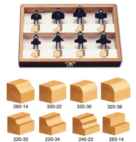 8-Piece Profile Set - 1/2 Inch Shank by Timberline