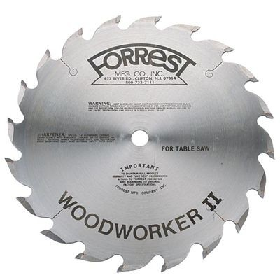 "12"" 20 Tooth WOODWORKER II Saw Blade For FAST RIP of Thick Hardwood Without Burning"
