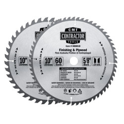 "CMT ITK Contractor Combo Pack Includes 2 - 10"" Blades for General Purpose & Finishing"