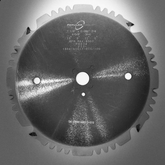 "Popular Tools 7-1/4"" x 4T Polycrystalline Diamond Series Saw Blade"