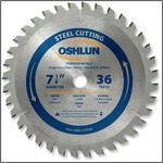 "OSHLUN Steel & Ferrous Metal Cutting Blade - 7-1/4"" x 36T, 5/8"" Hole W/Diamond Knock Out"