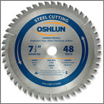 "OSHLUN Steel Cutting Saw Blade - 7-1/2"" x 48 Tooth, 20mm Hole with 5/8"" Bushing"