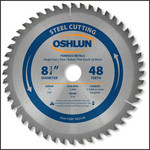 "OSHLUN Steel & Ferrous Metal Cutting Blade - 8-1/4"" x 48T, 1"" Hole with 5/8"" Bushing"