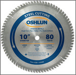 "OSHLUN Steel & Ferrous Metal Cutting Blade - 10"" x 80T, 5/8"" Hole"
