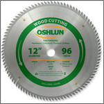 "Oshlun 12x96T ATB Fine Finishing Saw Blade, 1"" Hole"