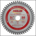 """Oshlun 5-3/8""""x50T TCG with 20mm Arbor (Comes with 5/8-Inch & 10mm Bushings) for Aluminum & Non Ferrous"""