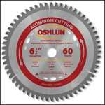"Oshlun 6-1/2""x60T TCG, 5/8-Inch Arbor (with Diamond Knockout) for Aluminum & Non Ferrous Metals"
