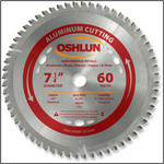 "Oshlun 7-1/4""x60T TCG, 5/8"" Hole (with Diamond Knockout) for Aluminum & Nonferrous Metals"