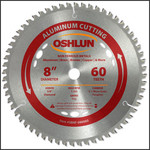 "Oshlun 8""x60T TCG, 5/8"" Hole (with Diamond Knockout) for Aluminum & Nonferrous Metals"