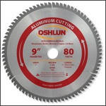 "Oshlun 9""x80T TCG, 1-Inch Hole for Aluminum & Non Ferrous Metals"