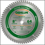 "Oshlun 8x64T ATB Fine Finishing Saw Blade, 5/8"" Hole with Diamond Knock Out"