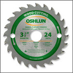 "Oshlun 3-3/8""x24T ATB General Purpose & Trimming Saw Blade, 15mm Hole"