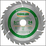 "Oshlun 5-3/8""x24T ATB General Purpose & Trimming Saw Blade, 20mm Hole (5/8-Inch & 10mm Bushings)"