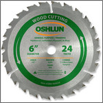 Oshlun 6x24T ATB General Purpose & Trimming Saw Blade, 1/2-Inch Hole