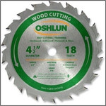 "Oshlun 4-1/2""x18T ATB Fast Cutting & Trimming Saw Blade, 3/8"" Hole"