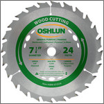 "Oshlun 7-1/4""x24T ATB General Purpose & Framing Saw Blade, 5/8"" Hole (Diamond Knockout)"