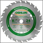 "Oshlun 8-1/4""x24T ATB General Purpose & Framing Saw Blade, 5/8"" Hole (Diamond Knockout)"