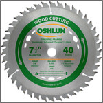 "Oshlun 7-1/4""x40T ATB Finishing & Framing Saw Blade, 5/8"" Hole (Diamond Knockout)"