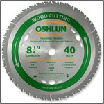 "Oshlun 8-1/4""x40T ATB Finishing & Framing Saw Blade, 5/8"" Hole (Diamond Knockout)"