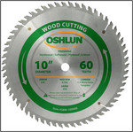 "Oshlun 10""x60T Finishing Saw Blade, 5/8"" Hole"