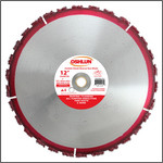 "Oshlun 12-Inch Carbide Chunk Blade with 1"" Hole for Rescue & Demolition"