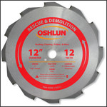 "Oshlun 12-Inch 12 Tooth FTG Saw Blade with 1"" Hole (7/8-Inch and 20mm Bushings) for Rescue & Demolition"