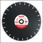 """Oshlun 14-Inch Diamond Saw Blade with 1"""" Hole with 20mm Bushing for Rescue & Demolition"""
