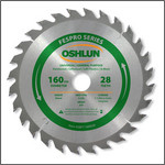 Oshlun 160mmx28T FesPro General Purpose ATB Saw Blade with 20mm Hole for Festool TS 55 EQ, DeWalt DWS520, & Makita SP6000K