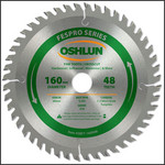 Oshlun 160mmx48T FesPro Crosscut ATB Saw Blade with 20mm Hole for Festool TS 55 EQ, DeWalt DWS520, & Makita SP6000K