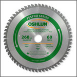Oshlun 260mmx60T FesPro General Purpose ATB Saw Blade with 30mm Hole for Festool Kapex KS 120