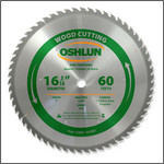 "Oshlun 16-5/16""x60 Tooth Beam Saw ATB Saw Blade with 1-Inch Hole"