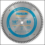 "Oshlun 10""x80 Tooth MTCG Saw Blade with 5/8-Inch Hole for Plastics"