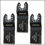 Oshlun 1-1/3-Inch Precision Japan HCS Oscillating Tool Blade with Quick-Fit Arbor for Standard and Quick Change Tools, 3-Pack