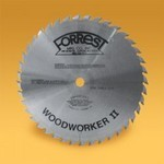 "12""x40 Tooth WOODWORKER II Saw Blade, 5/8"" HOLE, #6 Grind for NEAR FLAT BOTTOM and Easy Feed"